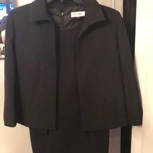 Calvin Klein Two piece black dress suit .